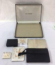 Vintage ELGIN AMERICAN Compact Cigarette Case Music Box Set In Box