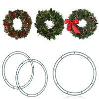 Weihnachten Metall Draht Kranz Rahmen Ring Rund Rahmen DIY Weihnachts Girlande