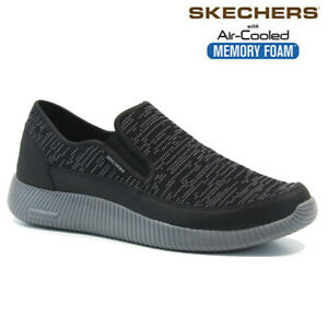 MENS SKECHERS AIR COOLED MEMORY FOAM SLIP ON BOAT WALKING TRAINERS SHOES SIZE
