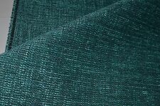 teal blue grey fleck chenille upholstery fabric thick robust sofa caravan chair