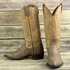 Imperial Cowboy Boots Tan Brown Leather Mens Size 7.5 D Western Country Vintage