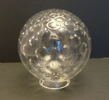 VINTAGE OLD STOCK VV FRANCE CLEAR GLASS 5 INCH GLOBE LIGHT SHADE MODERN BUBBLE