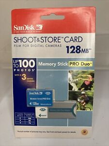 SanDisk 128 MB Memory Stick PRO Duo SDMSPDS-128-A99 NEW