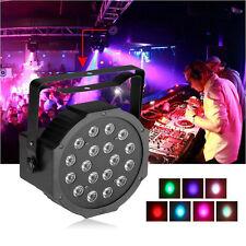 18LED RGB Stage Light Disco DJ Bar Effect UP Lighting Show DMX512 Strobe+ Remote