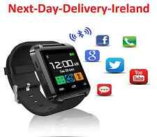 Bluetooth Smart Wrist Watch Phone For Apple iPhone Samsung IOS Android Black