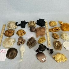 Vintage Small Size Doll Wig LOT assorted types for modern vintage antique Doll