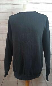 Russell Athletic USA Plain Sweatshirt Black Crewneck Size XXXL Vintage 90s