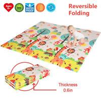 Folding Soft EVA Foam Baby Kids Game Gym Play Mat Crawling Carpet Floor Rug Pad