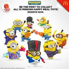 Mcdonald Happy Meal 2015 Minions Complete Set of 10 Limited Edition- Asia Ver.