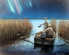 Pals II-Northern Lights Duck Hunting Print By Thomas Wosika Signed