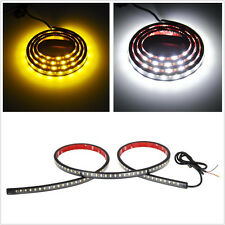 1 Pcs 12V 48'' White&Yellow LED 120SMD Autos DRL Turn Signal Light Tailgate Lamp