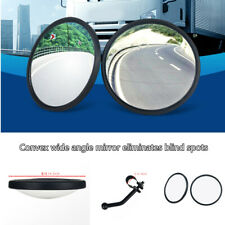2PCS Car Truck Round Convex Rearview Blind Spot Mirror Bring Support Wide Angle