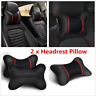 1 Pair Luxury PU Leather Car Seat Headrest Pad Head Neck Rest Cushion Pillow