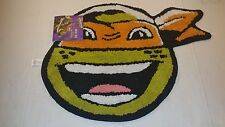 *New* Teenage Mutant Ninja Turtles Bath Rug Michelangelo Mikey 24 X 18 Inch Mat
