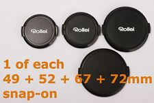 lot of 4x Rollei front lens caps: 49mm, 52mm, 67mm, 72mm