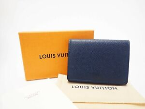 LOUIS VUITTON Taiga Card Case Holder Carte De Visite Ocean M64022 Men's