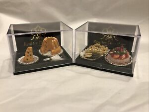 NEW 2 Reutter Porcelain Germany Dollhouse Miniature Desserts-Pastries~Cake~plate