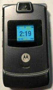 READ 1ST Motorola RAZR V3m - CDMA Gray Twigby Cell Phone Excellent Used