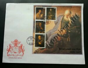 [SJ] Guyana Famous Painters 2004 Art Culture Drawing (FDC) *rare *see scan