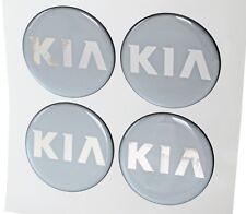4x 60mm für KIA Felgenaufkleber Aufkleber Sticker Emblem Radkappen Silikon Grau