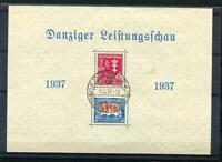 Danzig/Germany/Poland 1937 Souvenir Sheet Sc B21a Mi Block 3 Used Charity D1092