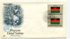 United Nations #403 Flag Series, Malawi, ArtCraft, pair,  FDC