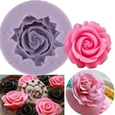 Rose Flower Fondant Cake Chocolate Sugarcraft Mold Cutter Silicone DIY Tool HOT