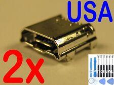 2x Lot Micro USB Charging Port Sync For Samsung Galaxy Tab 3 7.0 SMT-210R Tablet