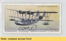 1938 Player's Aircraft of the Royal Air Force #33 Supermarine Stranraer READ 1s8