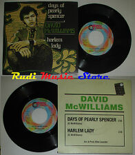 LP 45 7' DAVID McWILLIAMS Days of pearly spencer 1999 italy RED RONNIE *mc dvd