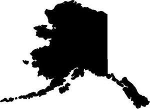Alaska state vinyl decal/sticker silhouette