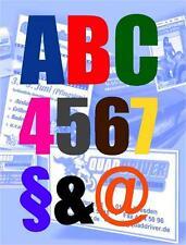 12 cm selbstklebende Folienschriften Klebebuchstaben Aufkleber - alle Farben