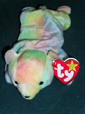 "Ty beanbag plush Original Beanie Baby ""Sammy"" multi-colored Bear w/Tag 1998"