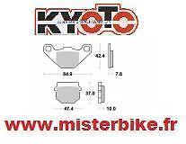 Jeu de 2 Plaquettes de frein KAWASAKI AR KX 50 80 / 125 200 KDX KMX