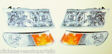 99-02 Mercury Gran Marquis Headlamp & Side Marker Lamp Set 4 Pc Right Left Side