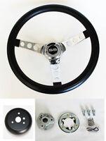 "New! SS Chevelle Nova Camaro Impala Grant Black Steering Wheel 13.5"" 13 1/2"""