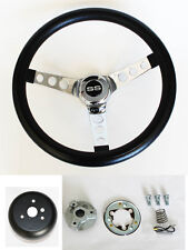 "New! SS Chevelle Nova Camaro Impala Grant Black Steering Wheel 13.5"" 13 1/2"""
