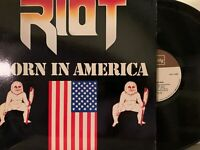 Riot – Born In America LP 1983 Quality – QUS 1008 Heavy Metal Vinyl VG+/EX