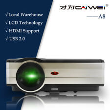 4000lms 6500:1 Home Cinema Projector World Cup Game Movies HDMI USB VGA HD 1080p
