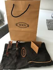 Tod's Empty Shopping Bag With Shoe Dust Bag, Into Card, 2 Ribbons Logo
