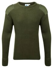 120 Crew Neck Combat Jumper Olive Green Size 3x-large