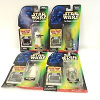 4 Star Wars Kenner Collection 1 Action Figures w/ Freeze Frame Action Slide POTF