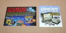 SNES Super Nintendo Game Boy Werbung Ad Page Flyer Promo Zelda Mario Donkey Kong