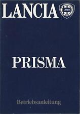 LANCIA PRISMA Betriebsanleitung 1983 Bedienungsanleitung Handbuch Bordbuch BA