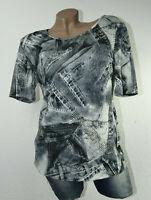 Lagenlook Longshirt Tunika Shirt Bluse Oberteil T-Shirt Classic Blumen Gr 36/38