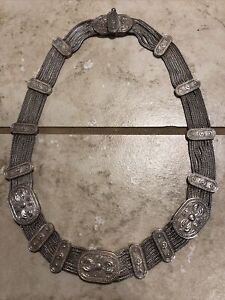 Antique Ornate 900 Silver Necklace Choker Museum Quality