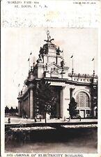 Postcard Worlds Fair St Louis 1904 Palace of Electricity Corner