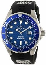 Invicta Men's Pro Diver 200m Blue Dial Black Polyurethane Watch 12559