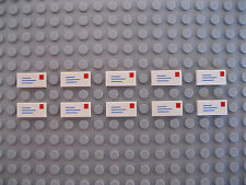 Dix LEGO lettre/courrier carrelage NEUF