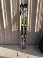 USED HEAD ISLWORLD CUP INTELLIGENCE SKIS WAXED TUNED FISHER RC9 RACE BINDINGS